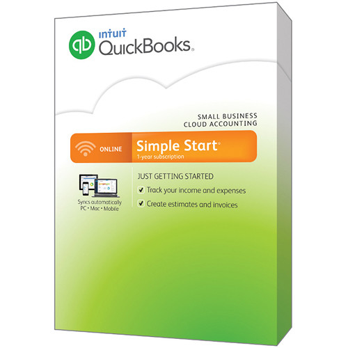 Intuit QuickBooks Online Simple Start 2015 (Online Only) 432936