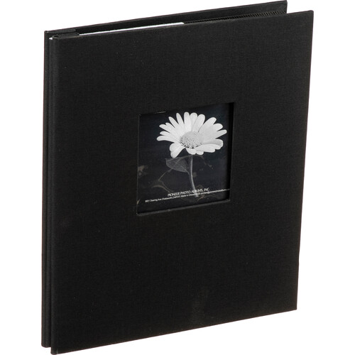 MB811CBF/BK Top Loading Scrapbook with Leatherette Cover (Black)