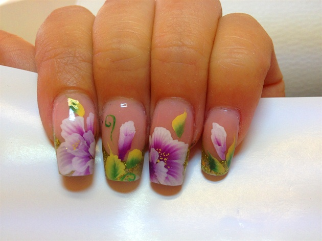 One Stroke Painting Bianca39s Nail Design
