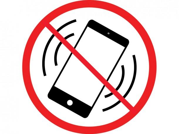 Self Adhesive Vinyl Sign No Cell Phones Biblio Rpl Ltee