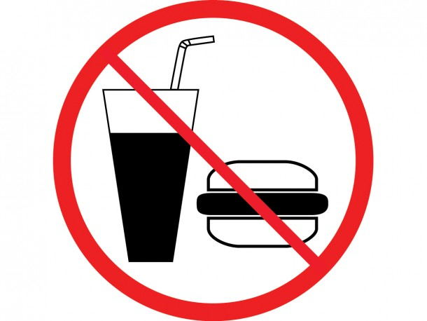 Self Adhesive Vinyl Sign No Food Or Drinks Biblio Rpl Ltee