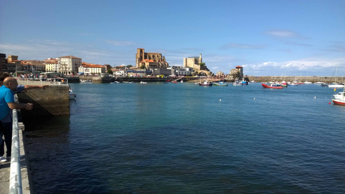 Photograph across the harbour at Castro Urdiales.