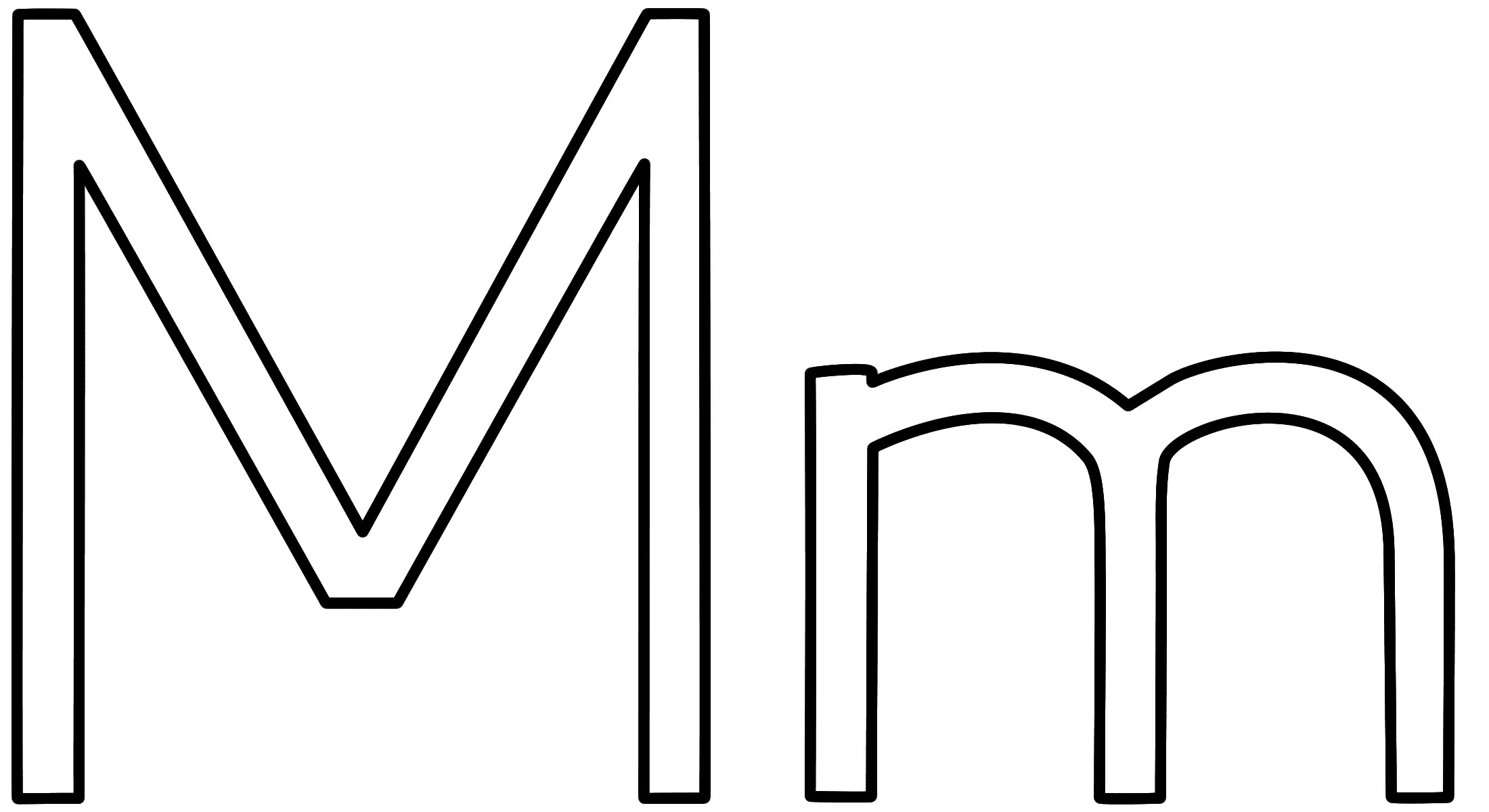 Letter m coloring pages - Download