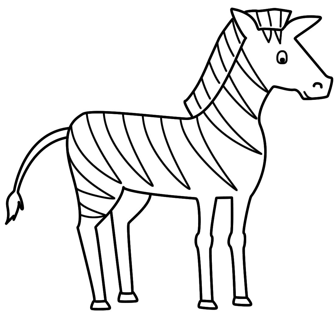 outline of zebra