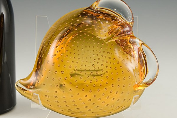 hand blown murano art glass ashtray bowl big ashtray. Black Bedroom Furniture Sets. Home Design Ideas