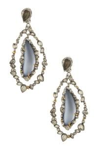 Vicki Gunvalson's Turquoise Stone Orbital Earrings | Big ...