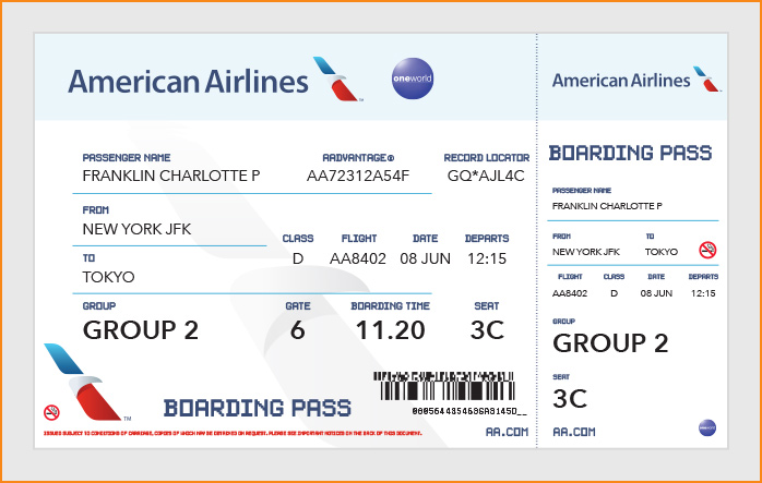 Doc1300740 Printable Fake Airline Tickets Blank Airline – Template for Making Tickets