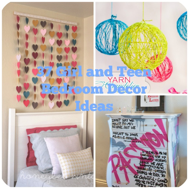 37 diy ideas for teenage girl 39 s bedroom decor big diy ideas for Room decor ideas teenage girl