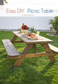 Easy DIY Picnic Table - BigDIYIdeas.com