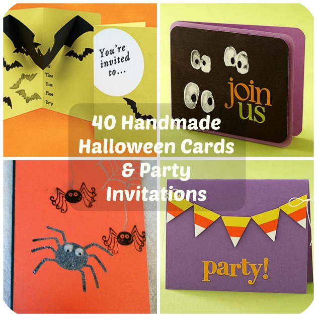 40 Handmade Halloween Cards  Party Invitations