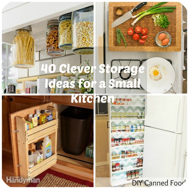 40 Clever Storage Ideas for a Small Kitchen - kitchen storage ideas for small spaces