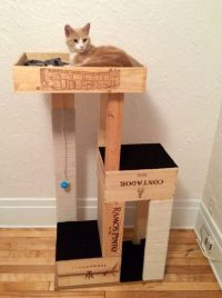 40 Cool DIY Cat Tree Kitty Condos or Cat Climbers