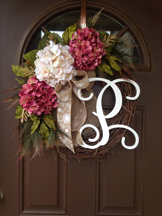 monogram wreath diy