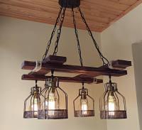 Rustic Light Fixture - BigDIYIdeas.com