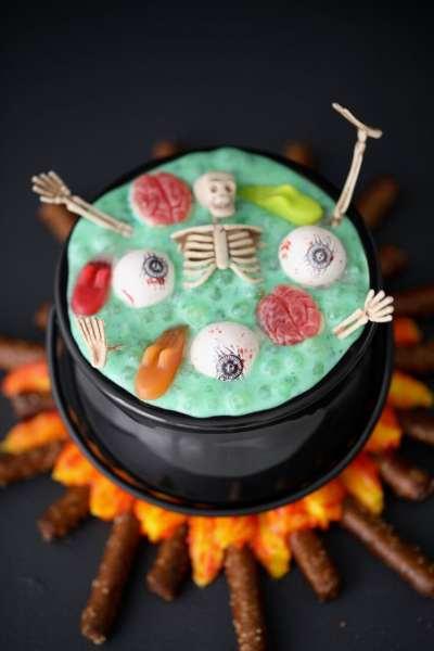 Witch's Brew Halloween Dessert - Gemma's Bigger Bolder Baking