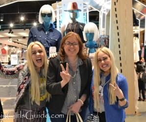 Beckerman girls sister and Sherry Aikens at Primark
