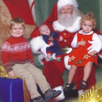 Pictures with Santa - Memorial City Mall - Christmas 2011