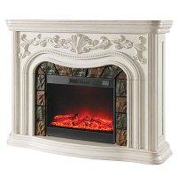 Grand White Fireplace