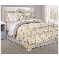 Dan River Full 8-Piece Yellow Damask Bed In A Bag | Big Lots
