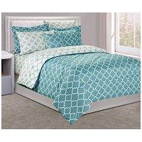 Dan River King Turquoise Tile 8-Piece Bed-In-A-Bag ...