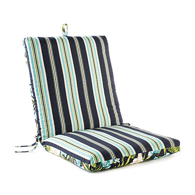 Leela Floral Stripes Reversible Outdoor Chair Cushion