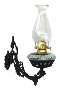 Oil and Electric Wall Lamps: Cast Iron Wall Bracket Oil Lamp