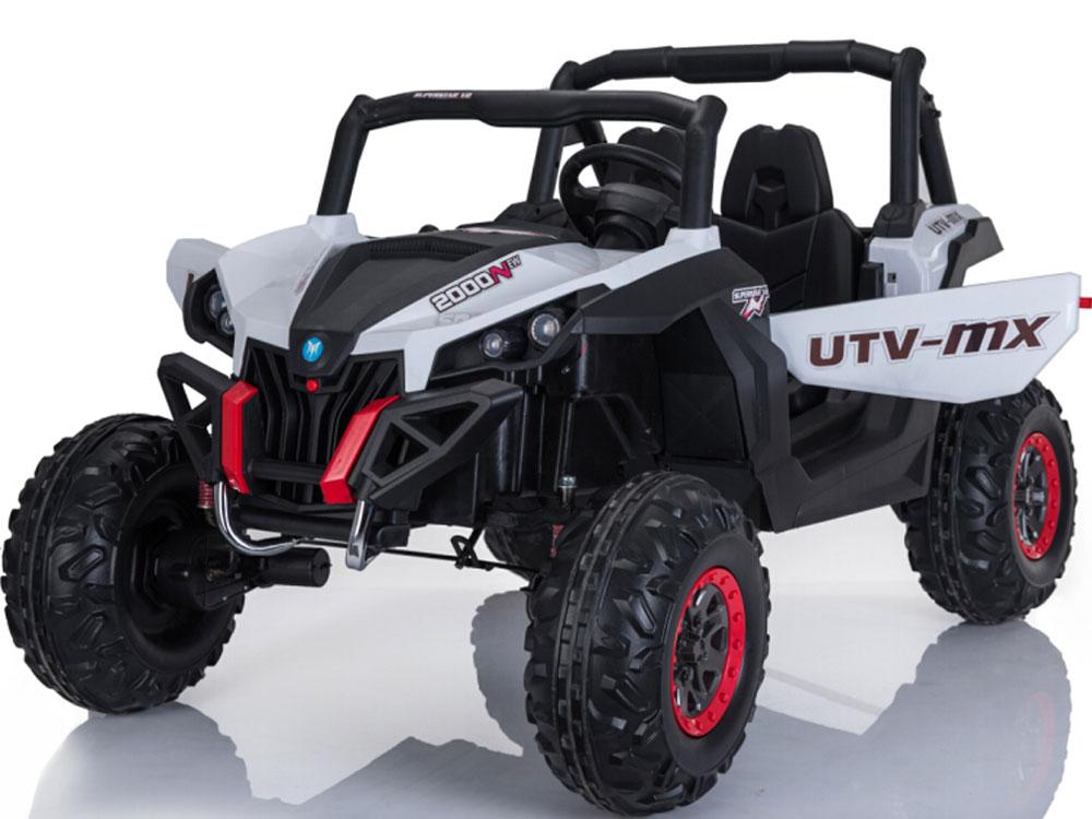 Mini Moto UTV 4x4 12v White (24ghz RC)