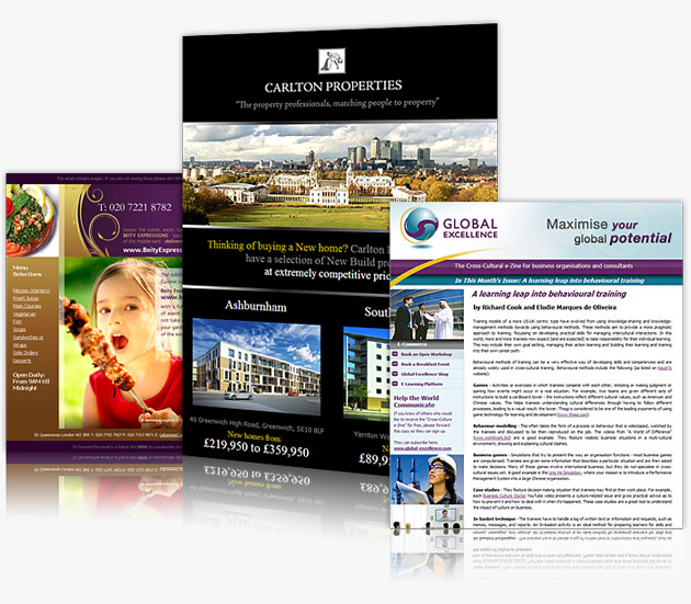 Low Cost Newsletter Template Designers Big Web Company
