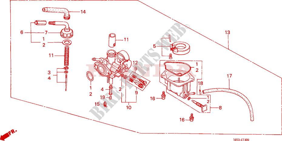 CARBURETOR Engine Z50JZ M 1979 Z50 50 MOTO Honda motorcycle # HONDA
