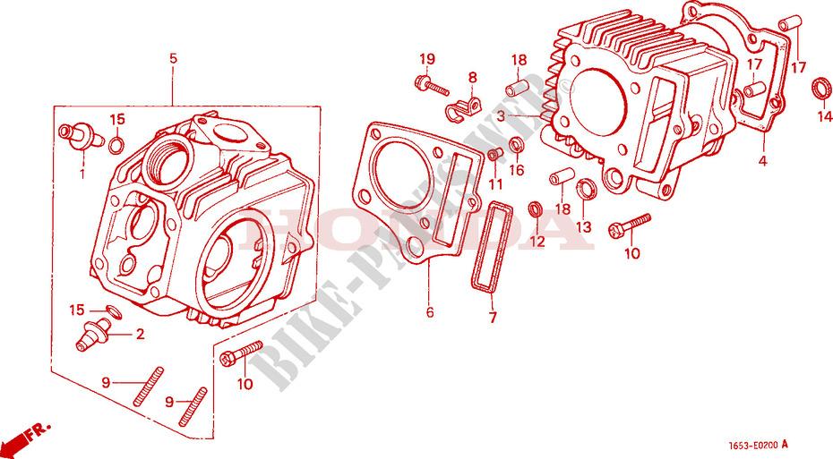 CYLINDER CYLINDER HEAD Engine Z50JJ M 1988 Z50 50 MOTO Honda