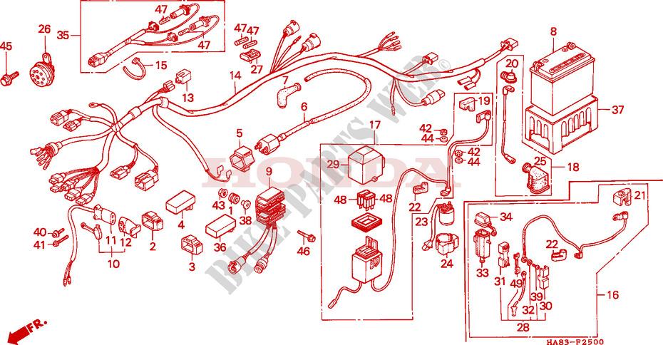 Honda Atv Wiring Wiring Diagram 2019