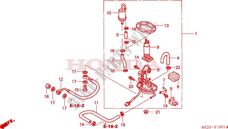 FUEL PUMP CBR900RR23 Frame CBR900RR2 2002 CBR 900 MOTO Honda