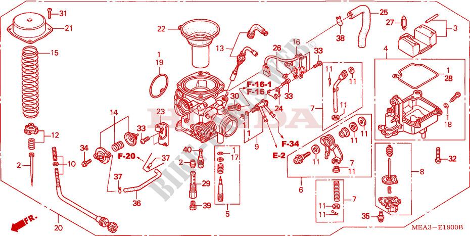 Diagram Honda Vtx 1300 Carburetor Honda Gx160 Carburetor Parts