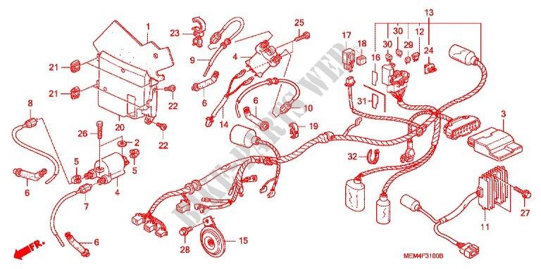 Honda Vtx1300c Wiring Diagram Wiring Schematic Diagram
