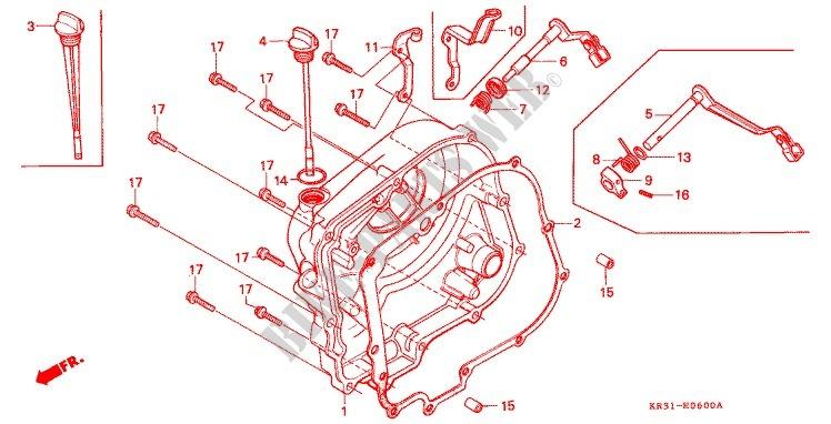 PANNEAU CARTER MOTEUR D CA250TF TG TH TJ Engine CA250TJ 1988 REBEL