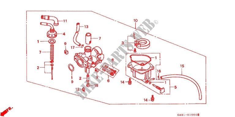 CARBURETOR OP KIT CR85R34 RB34 Engine Z50JM M 1991 Z50 50 MOTO Honda