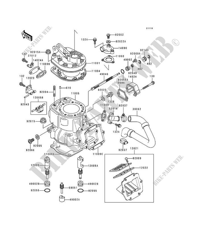 CYLINDER HEAD CYLINDER KDX250 D1 KDX250 D1 KDX250 1991 250 MOTOS