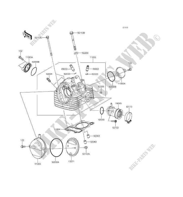 CYLINDER HEAD KLX150EEF KLX150L 2014 150 TOUT TERRAIN Kawasaki