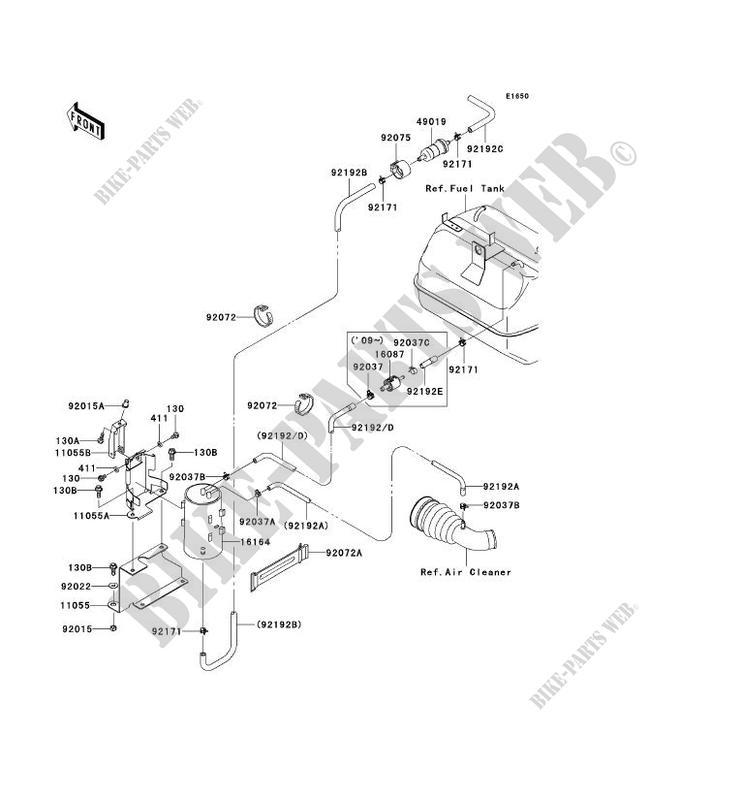 FUEL EVAPORATION SYSTEM CA KAF400AAF MULE 610 4X4 2010 400 SSV