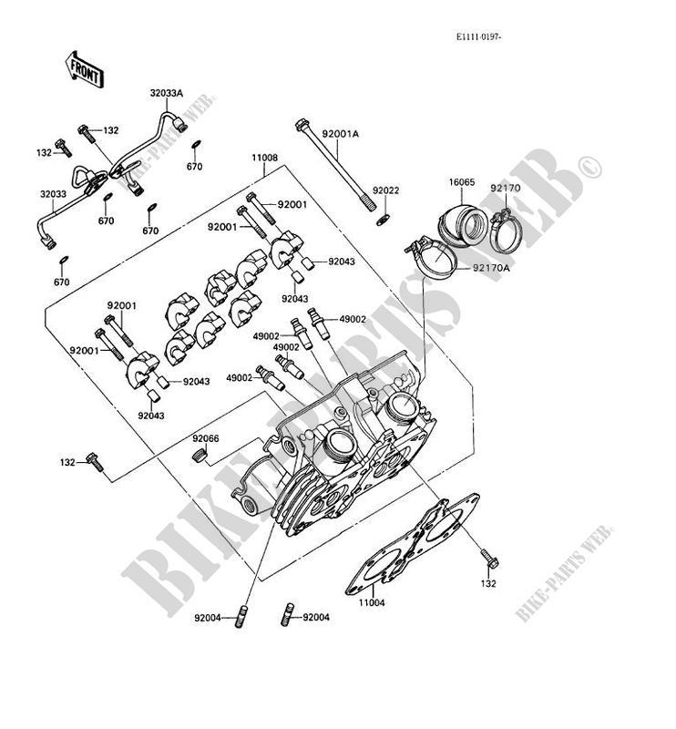 CYLINDER HEAD KAF450 B1 MULE 1000 No year 450 SSV Kawasaki