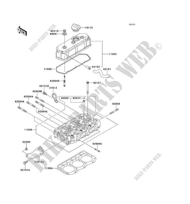 CYLINDER HEAD KAF950G9F MULE 4010 TRANS 4X4 DIESEL 2009 950 SSV