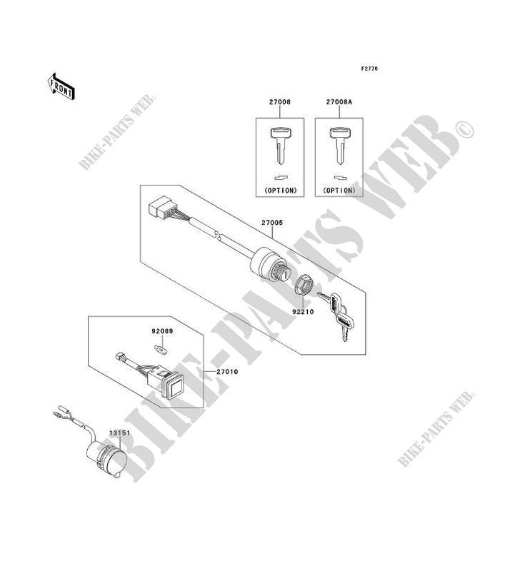 SWITCH KAF950GBF MULE 4010 TRANS 4X4 DIESEL 2011 950 SSV Kawasaki