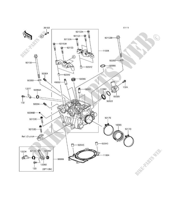CYLINDER HEAD KLX450AHF KLX450R 2017 450 TOUT TERRAIN Kawasaki