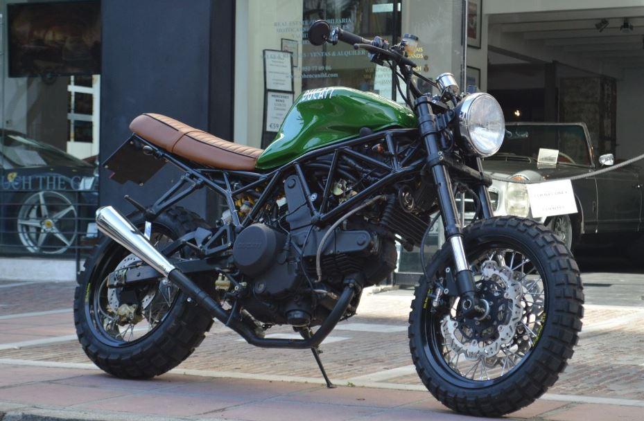In Spain - 2001 Ducati 750SS Scrambler Custom