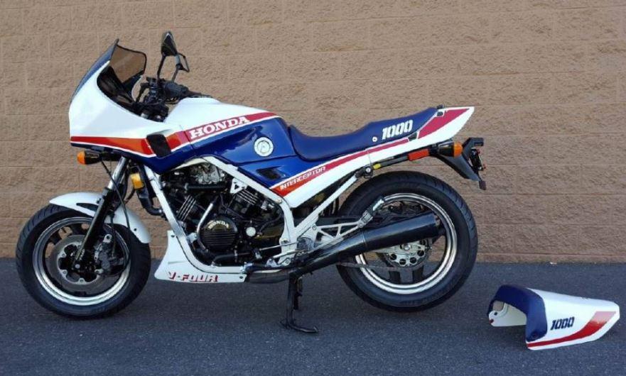 1984 Honda Vf1000f Interceptor Bike Urious