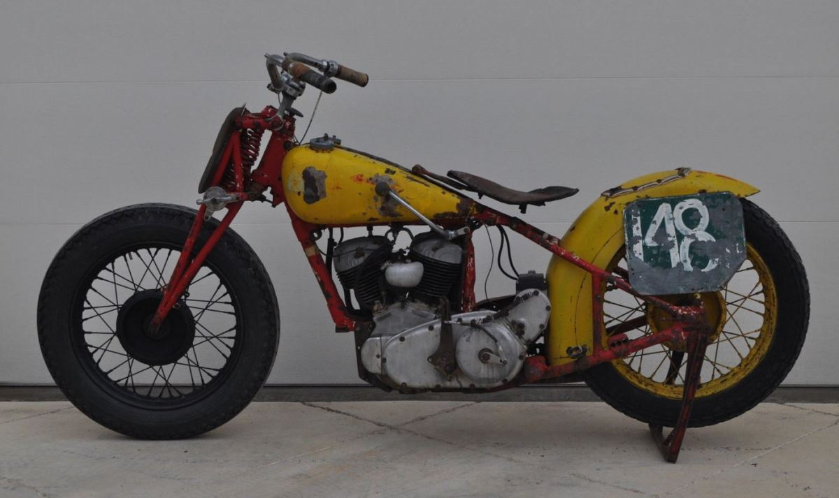 Needs Some Work - 1939 Indian Bonneville Sport Scout Racer