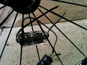 Light plate mounted.