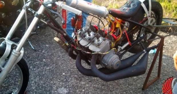 kawasaki two-stroke triple drag bike