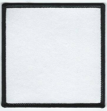 Blank Patch 35 x 35 White With Black Border - black border background