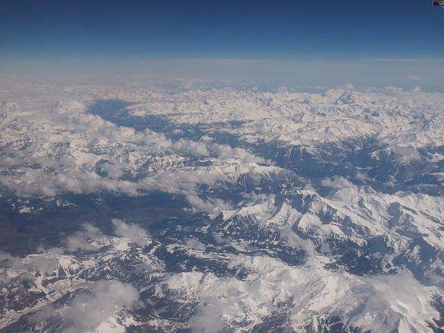 Alpen Schnee Luftbild